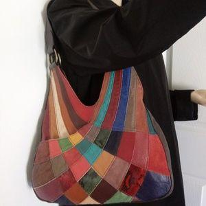 NWOT leather multicolor sholder bag